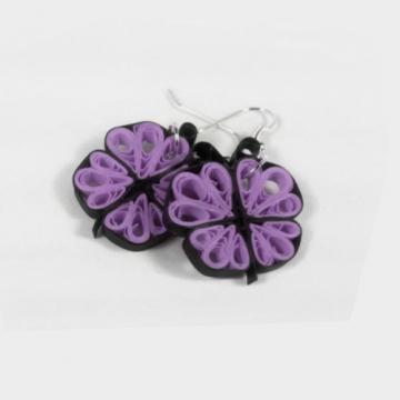 earrings for girls, butterfly lover, purple butterfly, paper butterfly, lavender