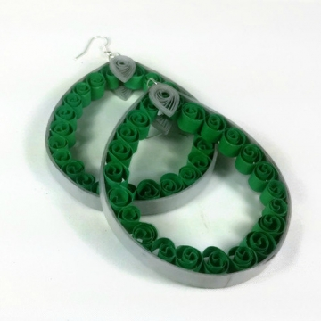 sale earrings, sale jewelry, sale jewellery, huge hoop earrings, green hoops