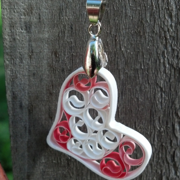 Filigree Heart Necklace, Signature Sweetheart Pendant, Paper Anniversary Gift
