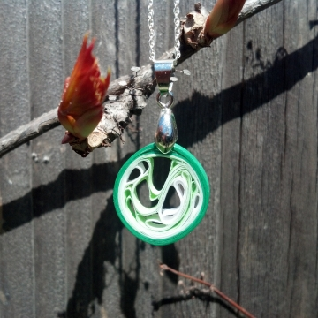 minimalist pendant, abstract pendant, paper quilling pendant, colorful pendant
