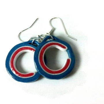 paper quilling earrings, Chicago earrings, gift for her, paper earrings
