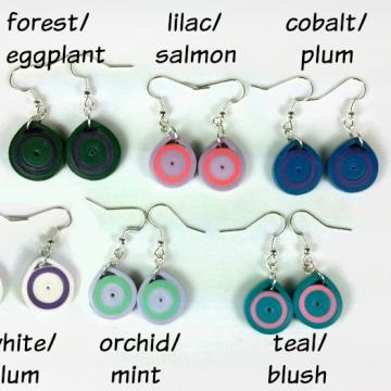 small earrings, eco friendly earrings, paper earrings for women, eco chic