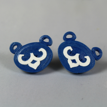 blue cub earrings, quilling cubs, paper quilling earrings, stud earrings
