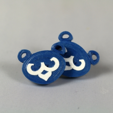 blue bears, bear earrings, cub bear earrings, bear cub earrings, cubs earrings