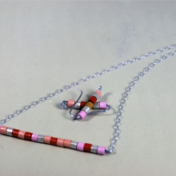 paper quill beads, paper jewelry, paper jewelry set, quill jewelry set, eco chic