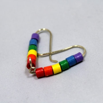 rainbow ear climber, gay pride jewelry, gay pride earrings, rainbow ear crawler