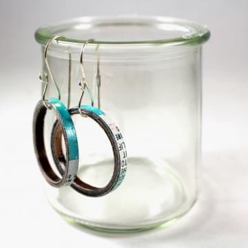 upcycled earrings, recycled earrings, upcycled paper earrings, paper earrings