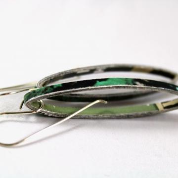 recycled paper earrings, recycled earrings, magazine paper earrings, custom made