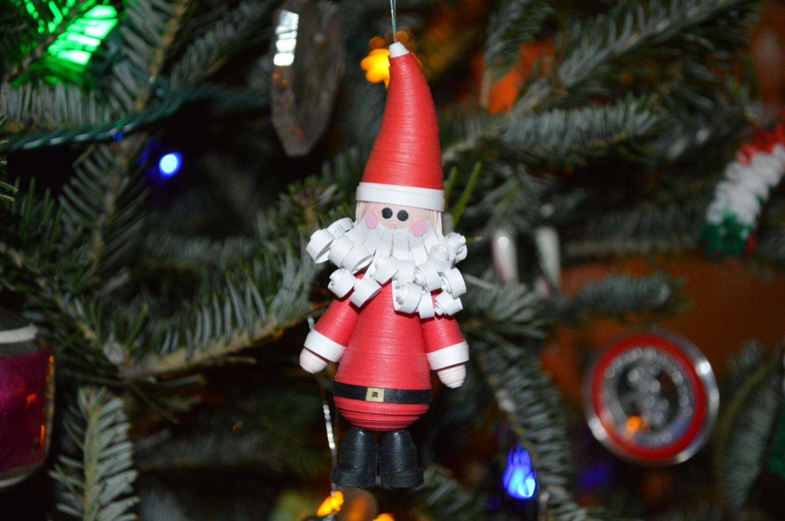 Santa Ornament Paper Quilling Christmas