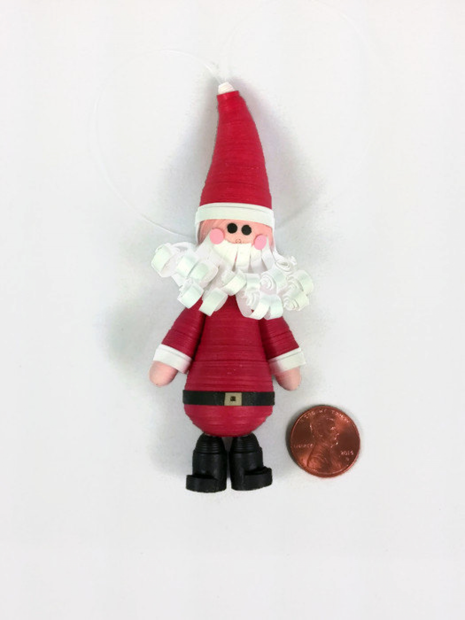 Santa Ornament Paper Quilling Christmas Sweethearts And