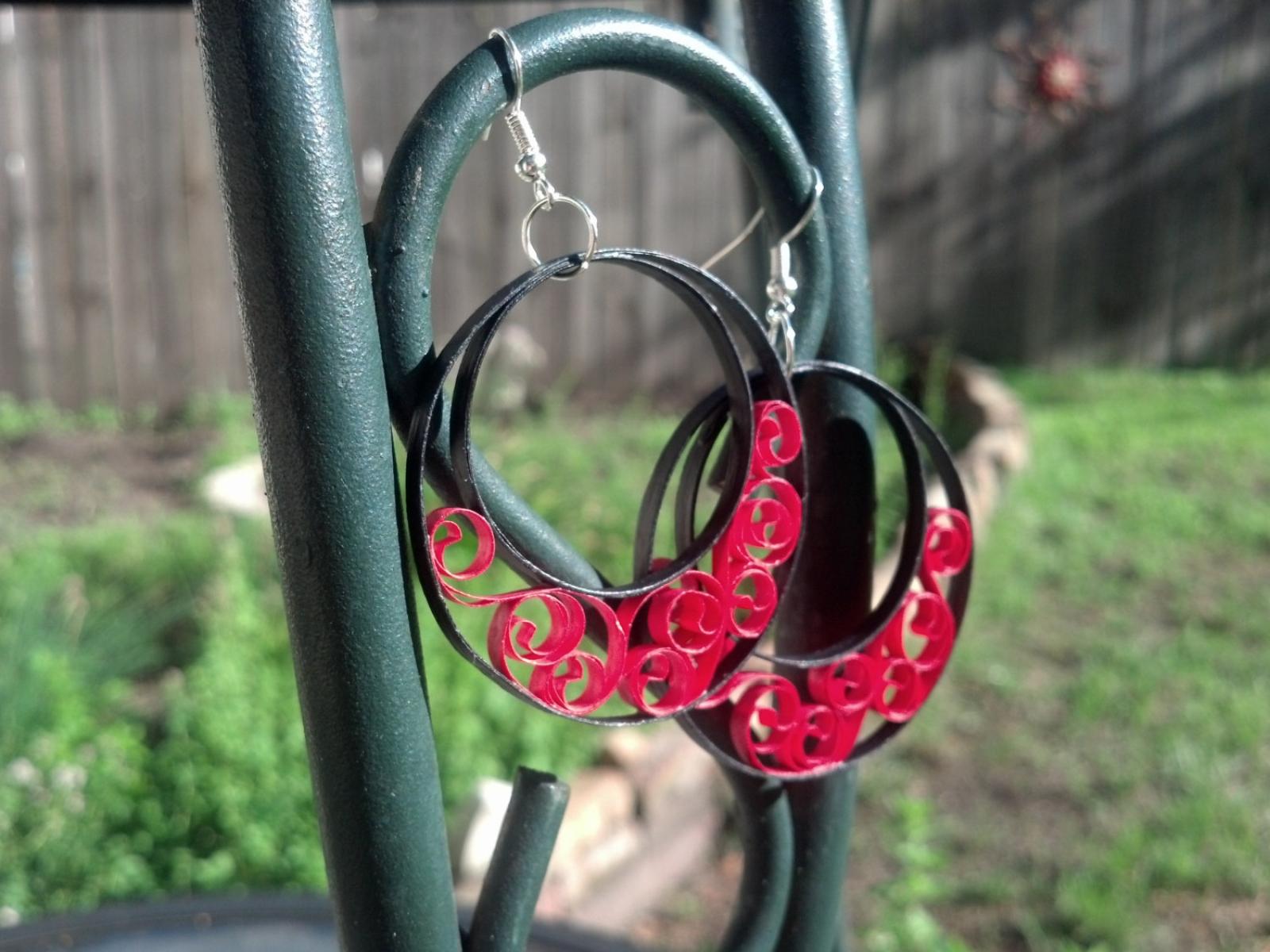2a1aa8a364d32 Large Half Moon Hoop Earrings Custom Handmade