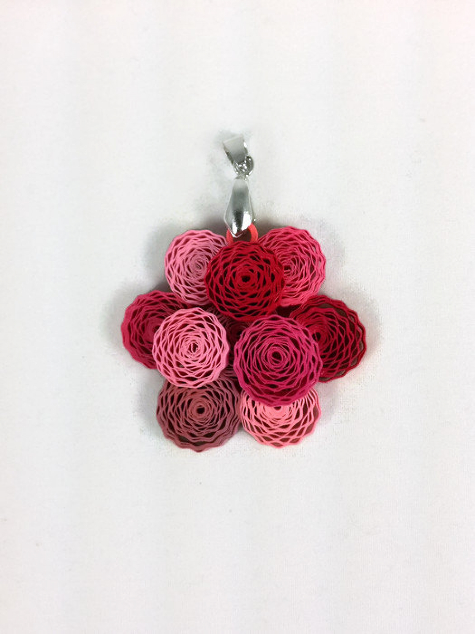 Peony Flower Paper Quilling Pendant Sweethearts And Crafts