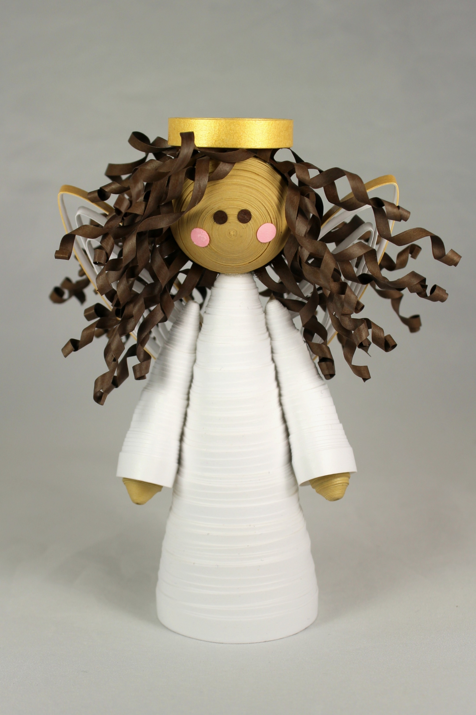 Handmade Angel Small Tree Topper Christmas Quilling