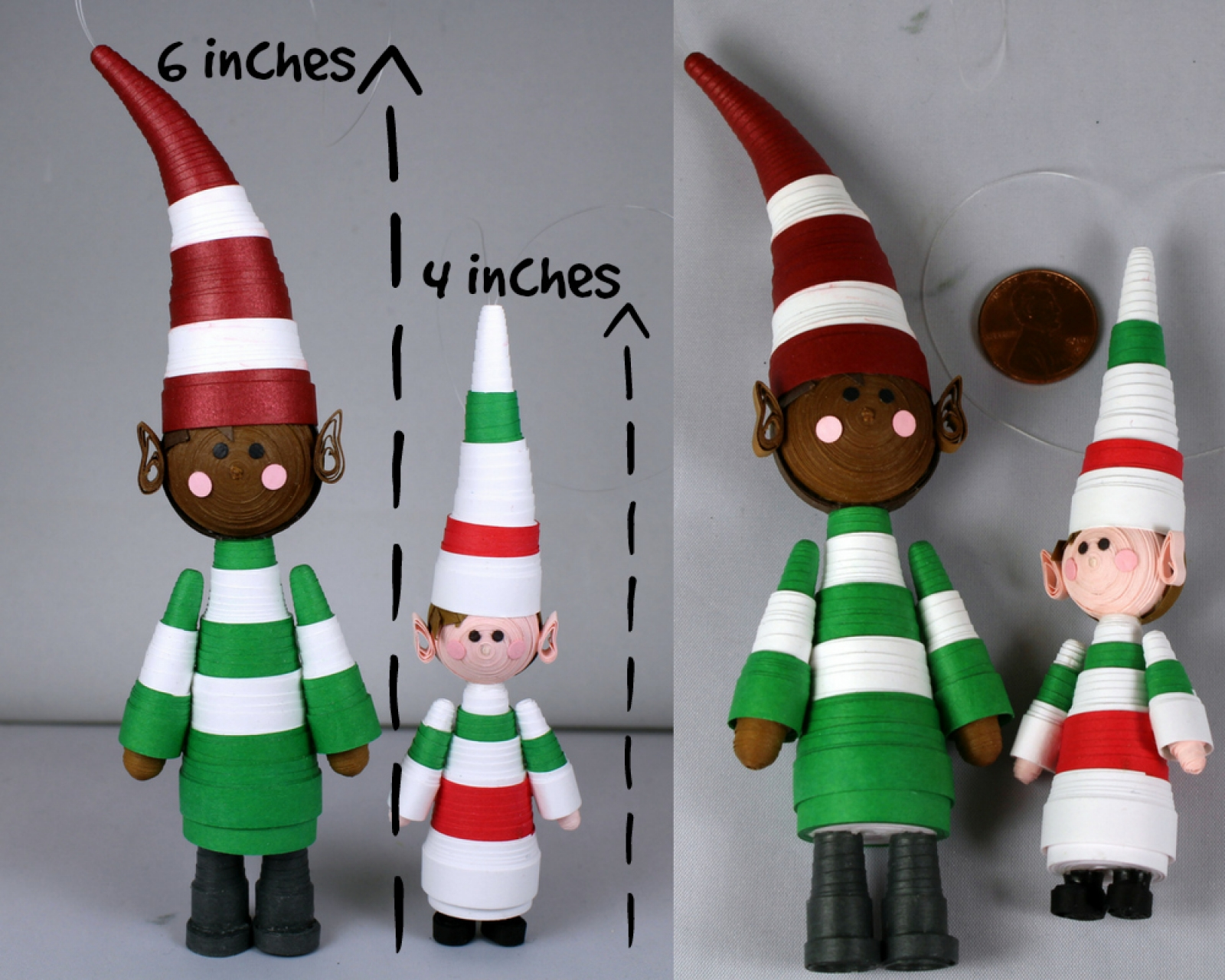Christmas Elf Ornament Paper Quilling Sweethearts And Crafts