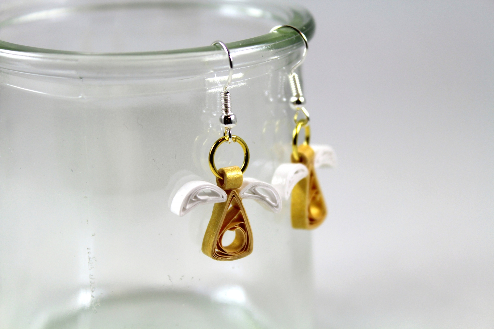 gold angel earrings christmas quilling sweethearts and crafts