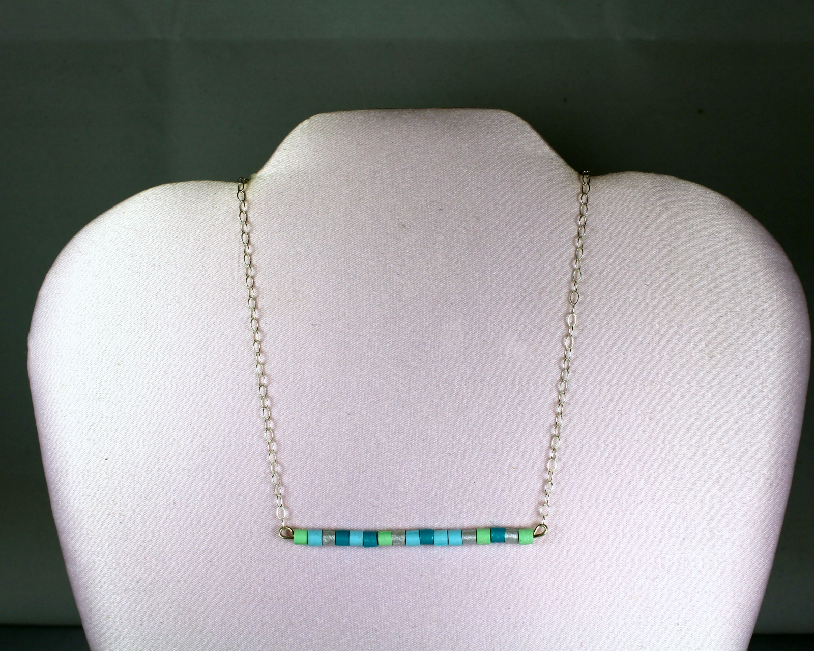 products chic modern crystal necklace horizontal bar simple