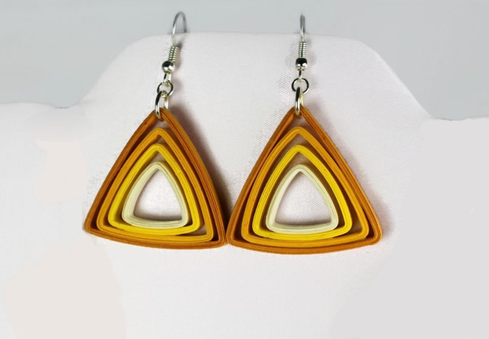 Paper Triangle Earrings Modern Quilling Multiple Colors ...