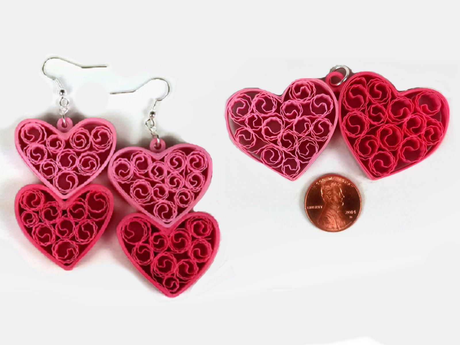 Two Hearts Jewelry Set Paper Anniversary Gift Sweethearts And Crafts
