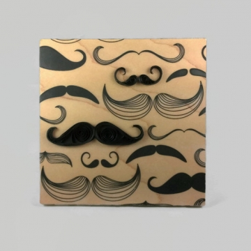 Father's Day Mustache Quilling Art Print