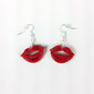 Red Lips Dangle Earrings