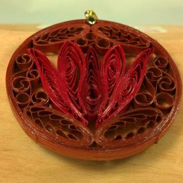 Red Lotus Pendant Copper Jewelry