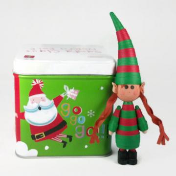 Handmade Elf Girl Christmas Ornament