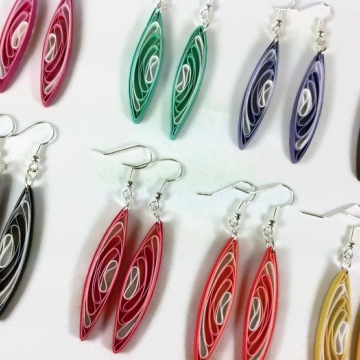Eco Friendly Quilled Dangle Earrings