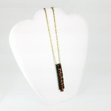 Unisex Necklace Long Bar Pendant