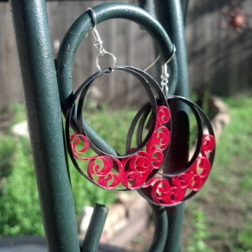 Large Half Moon Hoop Earrings Custom Handmade