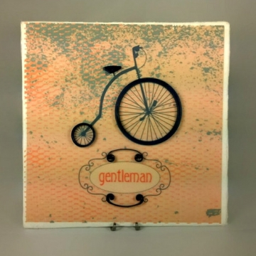 Bicycle Quilling Art for Man Anniversary Gift