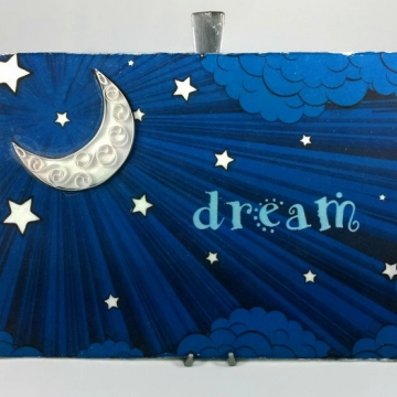 Moon Dream Sign Quilling Art for Nursery Bedroom