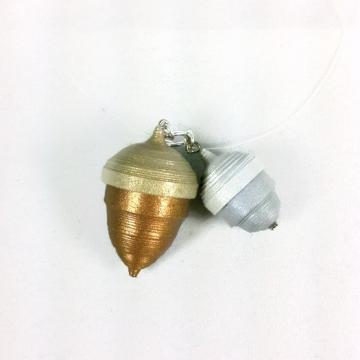 Paper Quilled Acorn Necklace Pendant