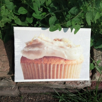 Frosted Cupcake Kitchen Wall Decor Food Art