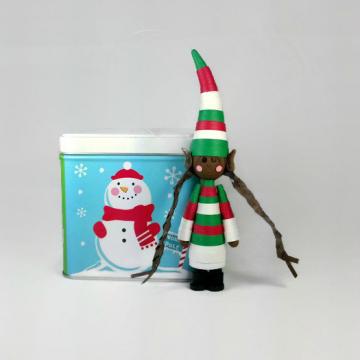 Brown Elf Christmas Ornament Black Elf