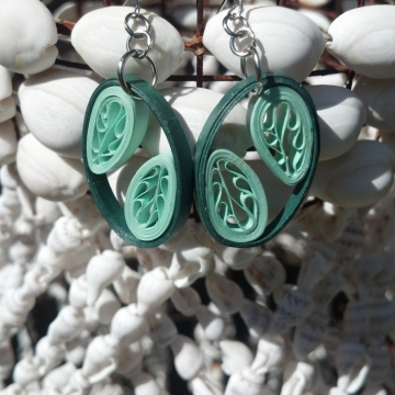 Filigree Leaves Handmade Earrings Multiple Colors