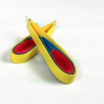 Yellow Teardrop Earrings First Anniversary