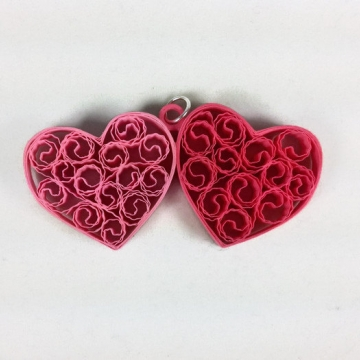 Two Hearts Jewelry Set Paper Anniversary Gift