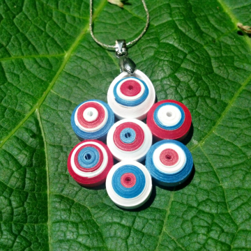 Independence Day Quilling Necklace