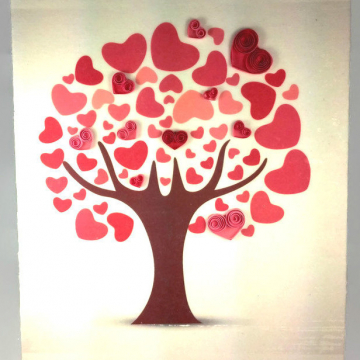 Love Tree Print Hearts Decor