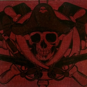 Halloween Decor Pirate Skull Wall Art