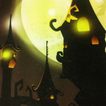 Haunted House Halloween Wall Art