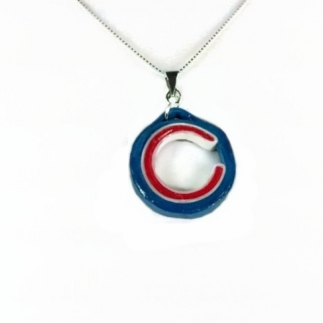 Chicago C Necklace, Paper Quilling Jewelry
