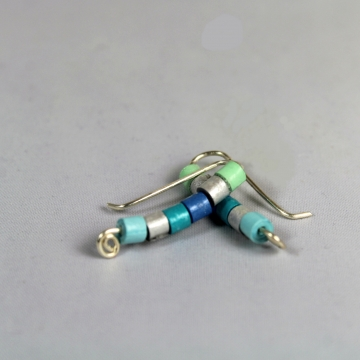 Ear Crawler Earrings with Paper Quilled Beads