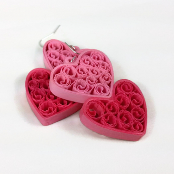 Two Hearts Jewelry Set Paper Quilling