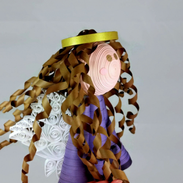Handmade Angel Tree Topper Large Paper Quilling