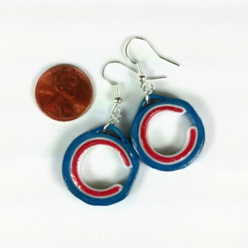 Chicago C Earrings, Paper Quilling Jewelry