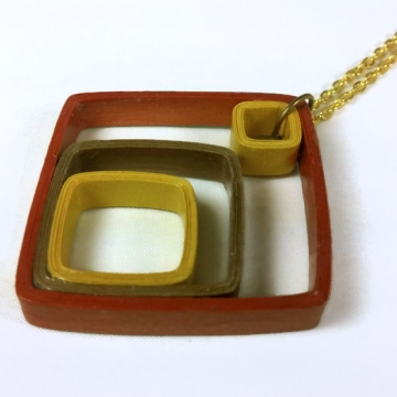 Geometric Mixed Metals Paper Necklace