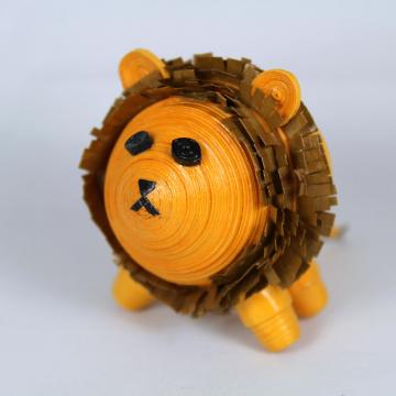 Lion Figurine Paper Quilling Art