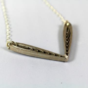 Handmade Fairy Wings Necklace Metallic Paper