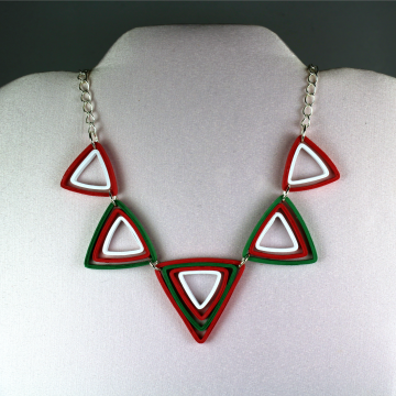 Modern Christmas Jewelry Set Paper Triangles